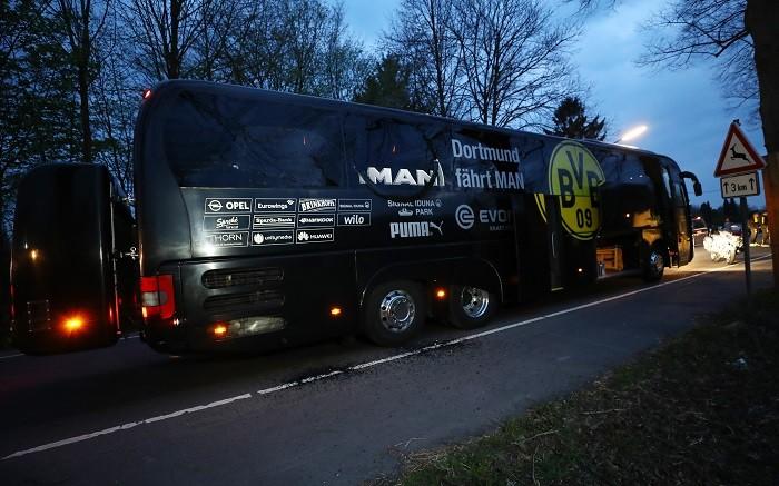 Borussia Dortmund, team bus, explosion, Champions League, Marc Bartra