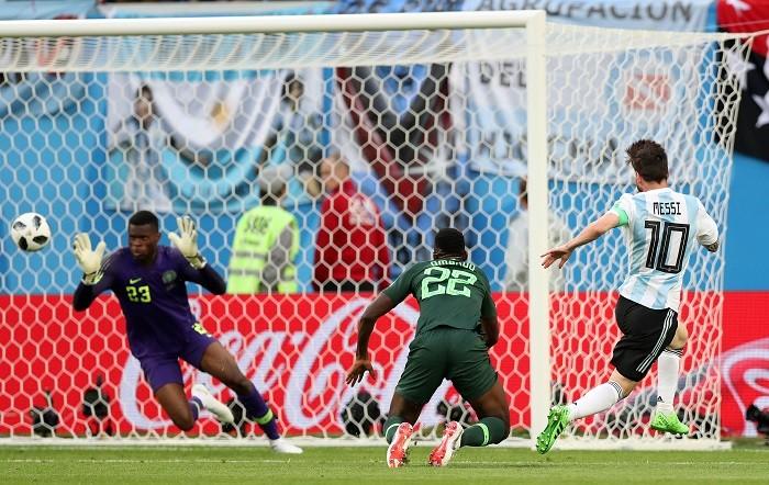 Lionel Messi Argentina Nigeria