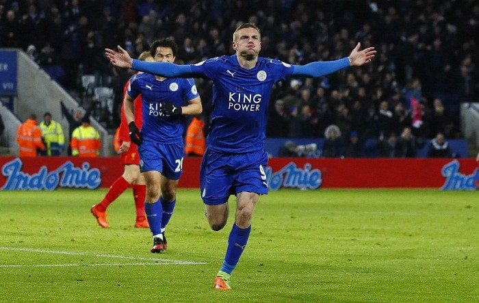 Jamie Vardy, Danny Driunkwater, Leicester City, Liverpool, Leicester City defeat Liverpool, Premier League results