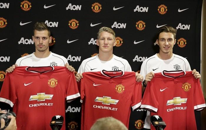 Morgan Schneiderlin Bastian Schweinsteiger Matteo Darmian Manchester United