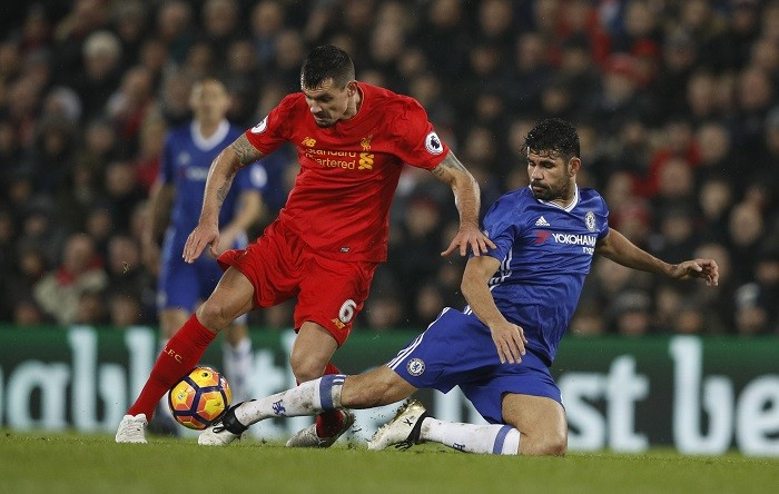 Dejan Lovren Liverpool Diego Costa Chelsea