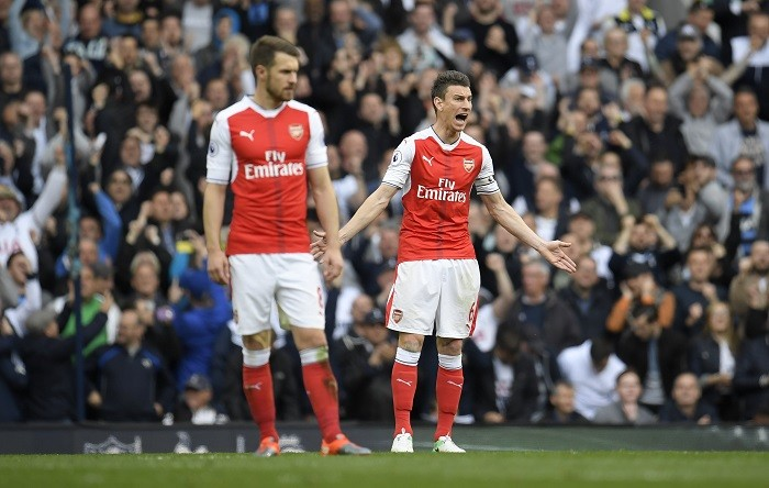 Laurent Koscielny, Aaron Ramsey, Arsenal, Spurs, EPL