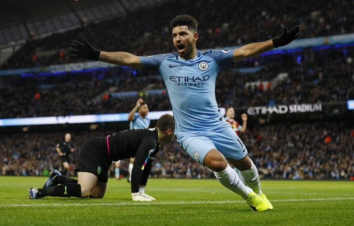 Sergio Aguero, Manchester City, results, Premier League, Burnley,