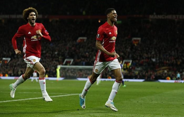 Marcus Rashford, Manchester United, Marouane Fellaini, Europa League, Anderlecht