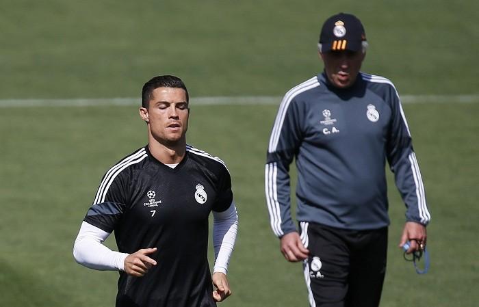Cristiano Ronaldo Carlo Ancelotti Real Madrid
