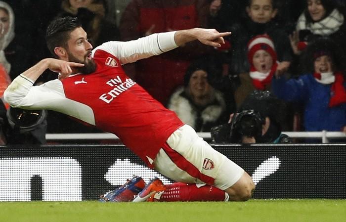 Olivier Giroud, goal, Arsenal, Crystal Palace, Premier League