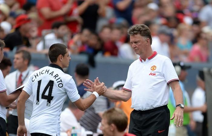 Louis Van Gaal Javier Hernandez Manchester United