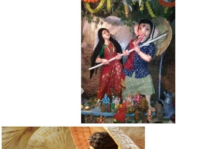 Rangasthalam: Lord Ganesha idols inspired for looks of Ram Charan and Samantha.