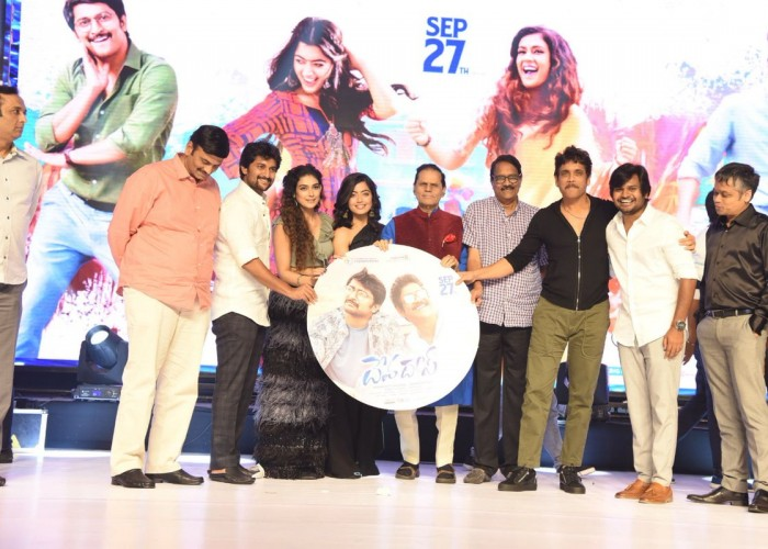 Celebs at Devadas audio launch
