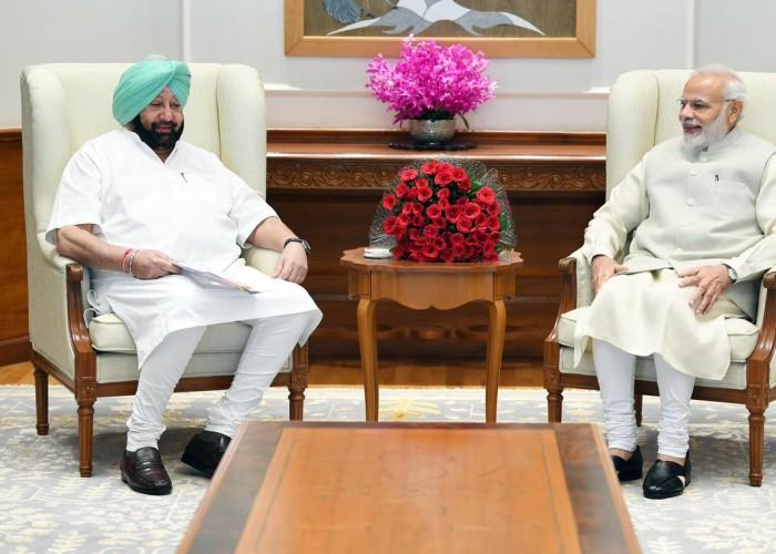 Amarinder Singh meets PM Narendra Modi