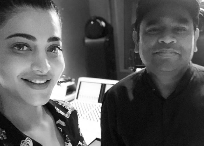Shruti Haasan with AR Rahman