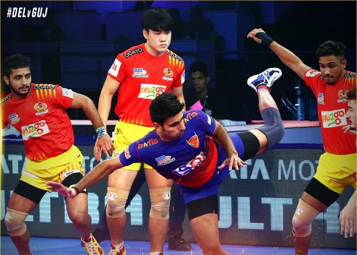 Pro Kabaddi League 2018: Gujarat Fortunegiants defeat Dabang Delhi 45-38