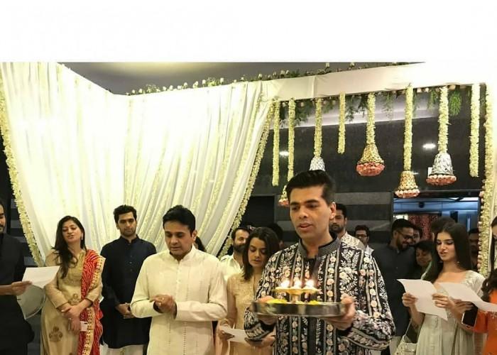 Karan Johar celebrates Diwali festival