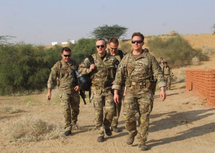 US and India Joint Military Exercise In Jaipur