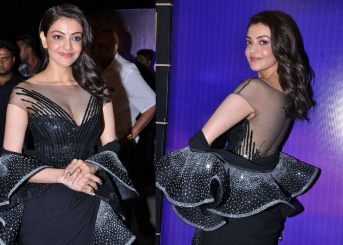 South Indian actress Kajal Aggarwal looks beautiful as she arrives on the red carpet at 'Zee Telugu Apsara Awards 2018' held at Hyderabad.