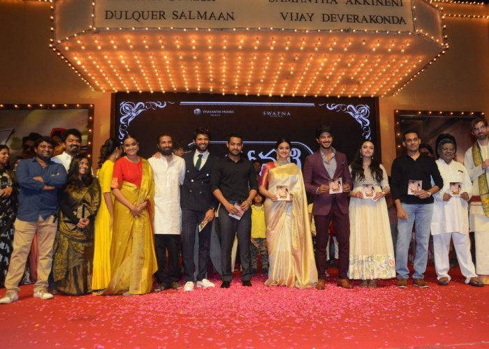 Ahead of Mahanati release, the makers launched the album in a grand style in Hyderabad. Celebs like Keerthy Suresh, Young Tiger NTR, Samantha Akkineni, Nani, Dulquer Salmaan, Vijay Devarakonda, Nagarjuna, Malavika Nair, Sekhar Kammula, K Raghavendra Rao, Savitri daughter Vijaya Chamundeswari, Ramajogayya Sastry, Swapna Dutt, C Ashwini Dutt, Priyanka Dutt, Nag Ashwin, Jhansi, Mahesh, Mickey J. Meyer, Sirivennela Seetharama Sastry, Prasad V. Potluri, MLA Chintala Ramachandra Reddy, Raghu Ram Raj and others graced at the event. The soundtrack for the film is composed by Mickey J. Meyer.