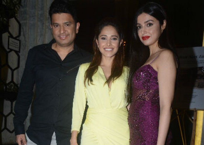 Bhushan Kumar and Divya Khosla Kumar attended the birthday bash of the leading lady of 'Sonu Ke Titu Ki Sweety' last night. Riding high on the success of the comic entertainer, the actress-producer duo celebrated the birthday of the Sonu Ke Titu Ki Sweety actress. Bhushan Kumar made an entry with his wife Divya Khosla Kumar. Dressed in a black shirt and grey trousers Bhushan Kumar kept it casual, while Divya Kumar looked stylish in a purple dress. The power couple posed with the Birthday girl Nushrat Bharucha at the intimate birthday celebration.