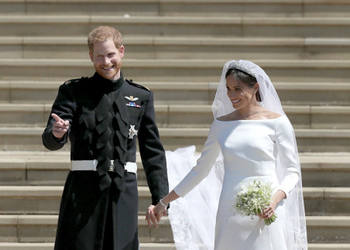 Prince Harry married US actress Meghan Markle in a ceremony at St. George's Chapel at Windsor Castle here on Saturday. Meghan became the first royal bride to walk herself up the aisle at a royal wedding. She was met half way by Prince Charles, the Duke of Cornwall, who walked her down the aisle of the Quire of the chapel. Her father Thomas Markle was unable to attend due to health issues. Among the 600 celebrity guests invited to the St. George Chapel were internationally acclaimed Indian actress Priyanka Chopra, Oprah Winfrey, George and Amal Clooney, David and Victoria Beckham, Elton John, Tom Hardy, James Corden, James Blunt and Carey Mulligan among others. Tennis star Serena Williams and rugby star Jonny Wilkinson were also present.