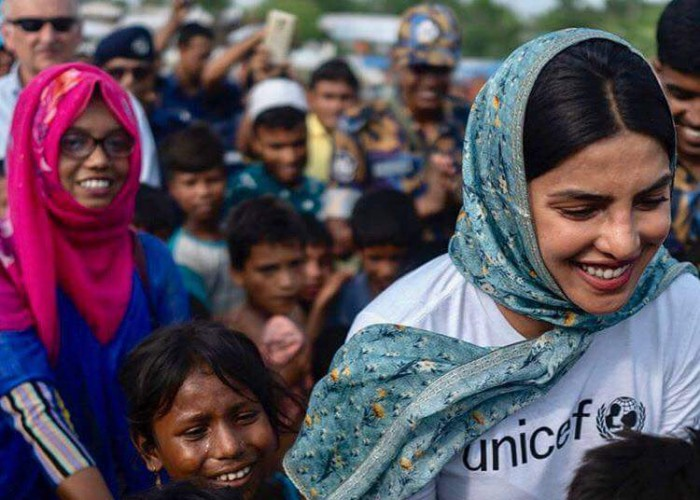 Actress and global Unicef Goodwill Ambassador for Child Rights Priyanka Chopra is visiting the Rohingya refugee camps on a field visit. Priyanka on Monday tweeted a photograph of herself from an aircraft looking out of the window.