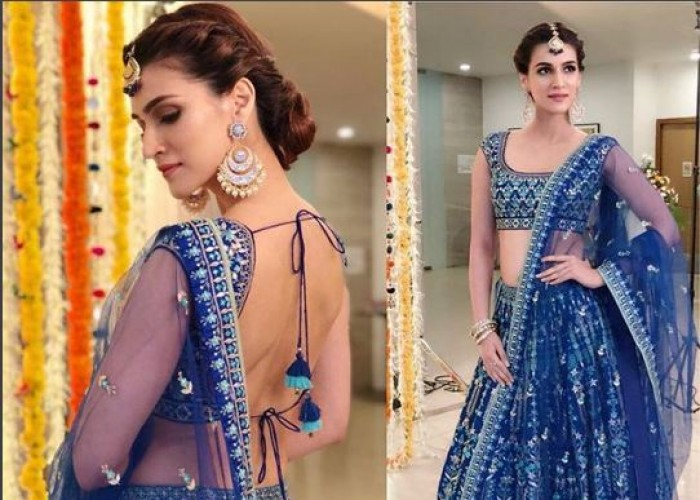 Bollywood actress Kriti Sanon's never fails to amaze us with her sartorial choice, from traditional attire to easy-going outfits she knows how to style them all. Effortless chic is her thriving vibe and Kriti Sanon has mastered the knack of blending comfort with the seasonal trends and classics, choosing outfits that suit her lithe frame and ups the look with a beauty game accentuating that chiseled jawline. She wore 2 most beautiful lehengas last evening for a photoshoot. On the work front, the actress is will be seen in Arjun Patiala opposite with Diljit Dosanjh, Housefull 4 and a period drama Panipat.