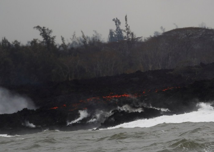 Relentless lava flow from Hawaii's Kilauea volcano which had erupted 19 days ago, has now reached the Puna Geothermal Venture property, Hawaii County's civil defence agency said. The plant produces electricity by bringing steam up from underground wells and funnelling it to a turbine generator, reports CNN. Officials are trying to prevent possible explosions or the release of toxic fumes by