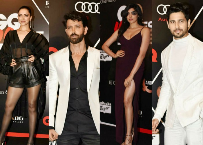 Deepika Padukone, Hrithik Roshan, Sidharth Malhotra, Preity Zinta, Adah Sharma at GQ Best Dressed Awards 2018.