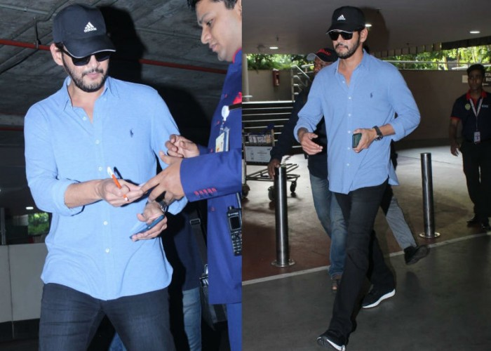 Mahesh Babu's moustache and beard look goes viral: Prince Mahesh Babu spotted at Mumbai airport as he was coming back from Dubai. The actor tried his best to cover his new look, yet media clicked him, which goes viral on Social Media. The actor snapped in blue shirt with black denim jeans and sunglasses. Mahesh Babu will be seen sharing the screen space with actress Pooja Hegde in Vamsi's film, which will be produced by Dil Raju and Ashwini Dutt. Devi Sri Prasad has been roped in to compose the tunes.