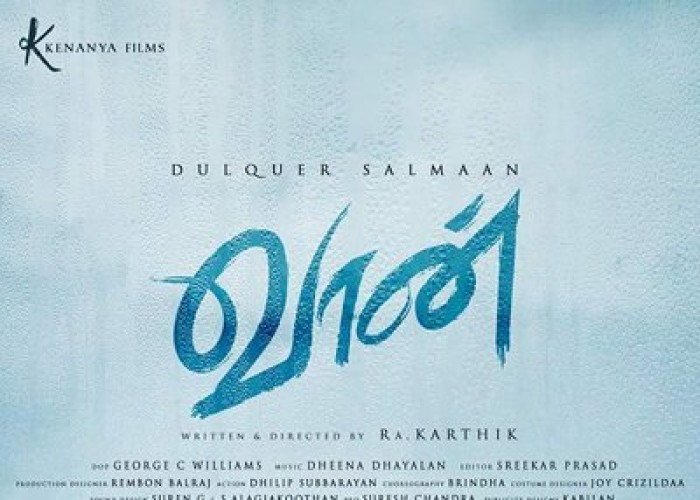 Actor Dulquer Salmaan''s new film in Tamil has been titled as Vaan, directed by Ra. Karthik and produced by Selva Kumar. Joy Crizildaa will play the female lead. The soundtrack of the movie will be composed by Dheena Dhayalan. Actor Dulquer Salmaan took to micro-blogging site Twitter to reveal the first look of the film by tweeting: