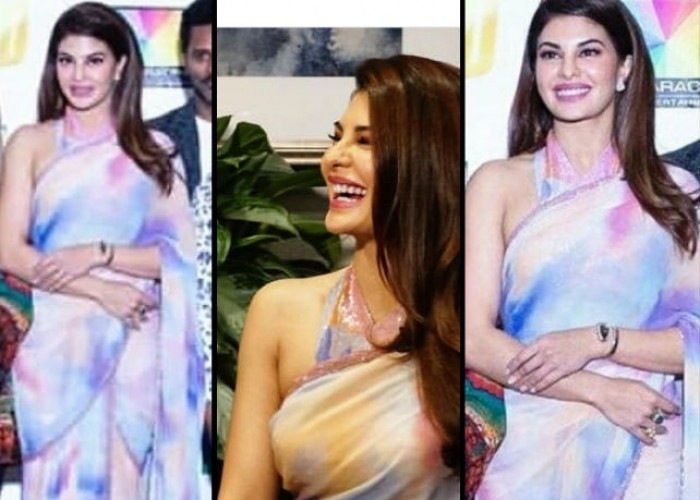 Jacqueline Fernandez who is currently in Atlanta for the 2018 Dabangg Tour chose to wear a saree at the press con held yesterday in the US. The Race 3 actress got everyone swooning over how chic she looked in an elegant saree, playing around the shades. Known to be a saree lover, Jacqueline Fernandez stunned the masses effortlessly by donning a multiple coloured pastel saree paired with a watch, keeping it simple. It has always been a visual delight to watch Jacqueline in wearing a saree. Dabangg tour will see Jacqueline perform to some of the electrifying chartbusters which will prove to be a visual delight for all the fans out there.