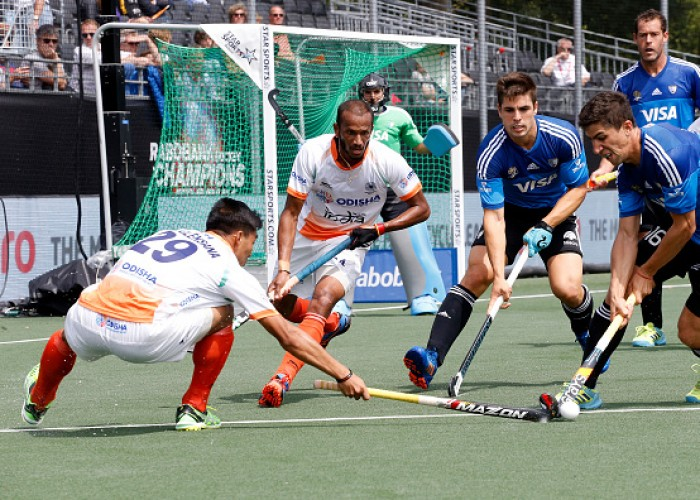 India defeated Argentina 2-1 to register their second consecutive victory in the Champions Trophy hockey tournament here on Sunday. Harmanpreet Singh gave India the lead off a penalty corner in the 17th minute before Mandeep Singh (28th minute) doubled the advantage with a field goal. Gonzalo Peillat powered home a penalty in the 30th minute to reduce the margin for Argentina. Coming into their second round robin match after comfortable wins on the opening day, both teams played out an exciting first quarter. Argentina stretched the Indian defence early on as they made potential frays into the striking circle. A stick check by Jarmanpreet Singh while tackling Matias Paredes in the striking circle saw India concede a penalty corner.