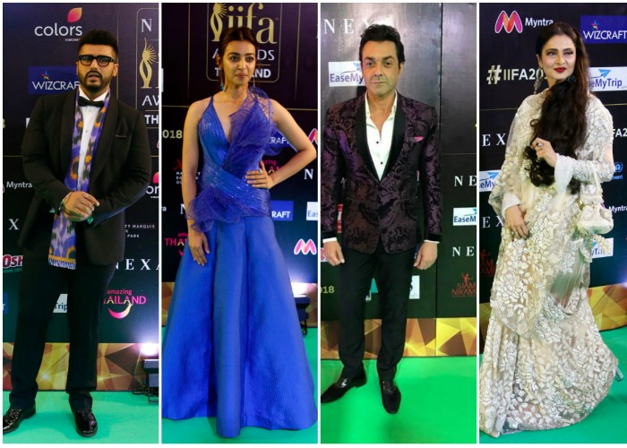 The highly anticipated 19th Edition of NEXA IIFA Awards Styled by Myntra kick-started the celebrations in the most spectacular manner at IIFA Rocks 2018.  Transforming the magnificent Siam Niramit Theatre with a perfect mélange of glitz, glamour and star power, IIFA Rocks featured a stunning musical extravaganza, a number of surprises and entertainment all under one stage! Celebs like Anil Kapoor, Arjun Kapoor, Ayushmann Khurrana, Bobby Deol, Dia Mirza, Kartik Aaryan, Kriti Sanon, Nawazuddin Siddiqui, Rahul Bose, Ranbir Kapoor, Rekha, Shraddha Kapoor, Urvashi Rautela, Radhika Apte, Zaira Wasim and others graced at 19th edition of International Indian Film Academy (IIFA) awards in Bangkok, Thailand.