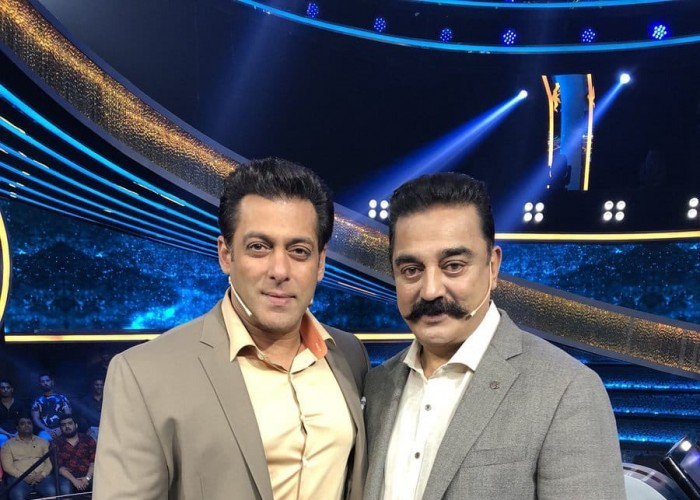 Actor-politician Kamal Haasan was happy to meet and shoot with Bollywood superstar Salman Khan on the sets of