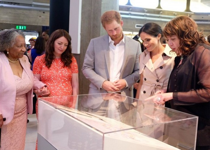 Marking the centenary anniversary of former South African President and Anti-Apartheid revolutionary, the Duke and Duchess of Sussex attended the launch of Nelson Mandela Centenary exhibition. Prince Harry met Nelson Mandela's widow, Garca Machel. The official Twitter handle of Kensington Palace posted a picture with the caption,