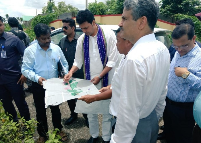 Tripura Chief Minister Biplab Kumar Deb visited Nripendranagar tea estate area here to set up an All India Institute of Medical Science (AIIMS) hospital. The Chief Minister after visiting the area said that an AIIMS like multispecialty hospital is needed in the state so that the locals do not have to rush to big cities for treatment.