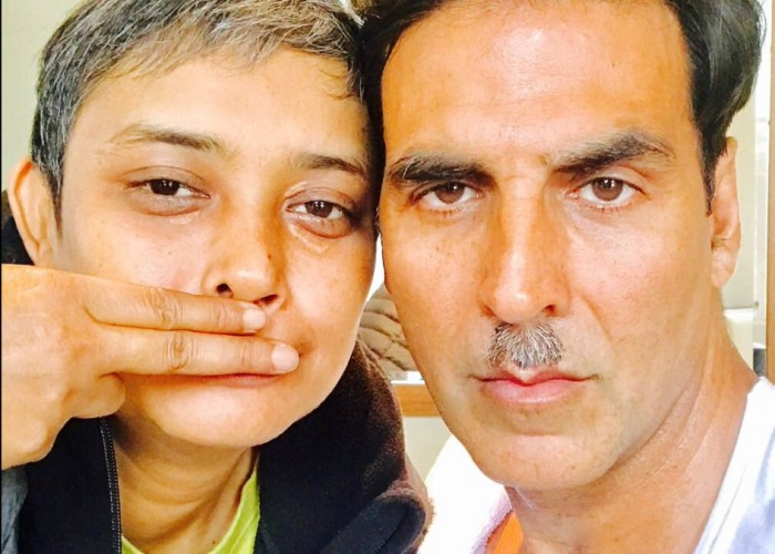 Ahead of Reema Kagti's Directorial Gold's release Akshay Kumar took to social media to share a fun BTS picture from the sets of his upcoming Gold along with director Reema Kagti. Known for his fun and jolly image, Akshay Kumar shared a fun picture with director Reema Kagti as they posed with mustaches. Akshay captioned the picture as