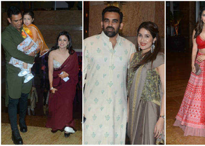 MS Dhoni, Zaheer Khan, Yuvraj Singh at Praful Patel's daughter Poorna's sangeet ceremony