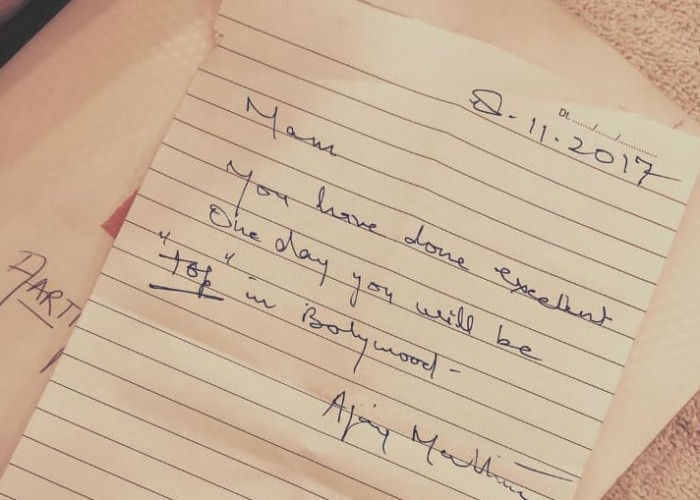 Taapsee Pannu received a heart warming note