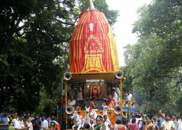 Lord Jagannath's Bahuda Yatra celebration
