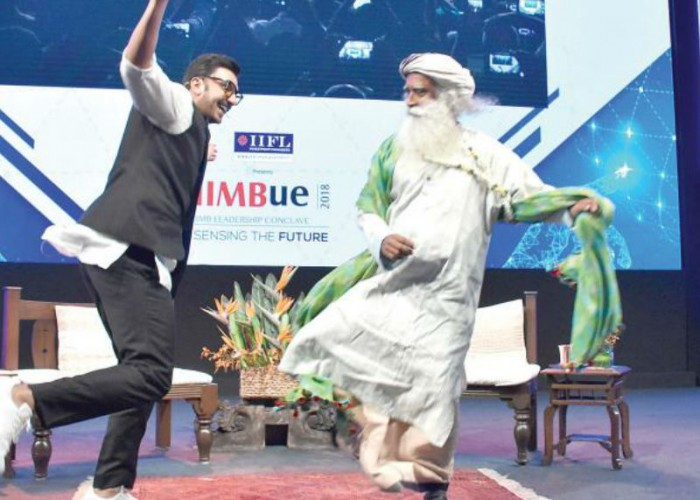 Ranveer Singh shares 'happy dance' with Sadhguru