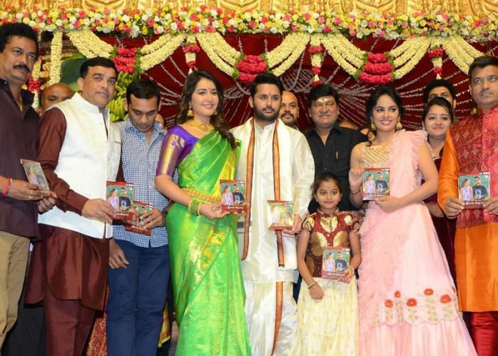 Nithin, Raashi Khanna at Srinivasa Kalyanam audio launch