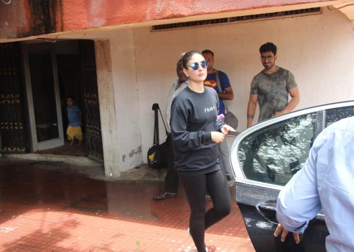 Kareena Kapoor Khan was snapped outside a gym in Mumbai