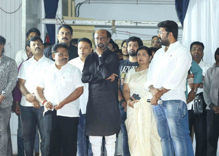 Karunanidhi prayer meet: Celebs like MK Stalin, Rajinikanth, Vishal and others attend.