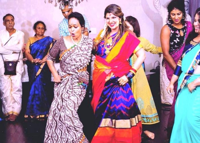 Rambha dances during her baby shower