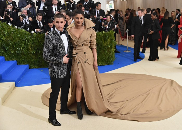 Priyanka Chopra and Nick Jonas at Meta Gala