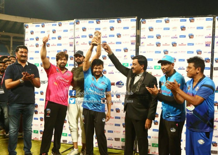 Ganesh's Wodeyar Chargers wins Kannada Chalanachitra Cup