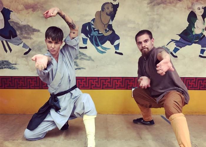 Ruby Rose flaunts her martial arts skills