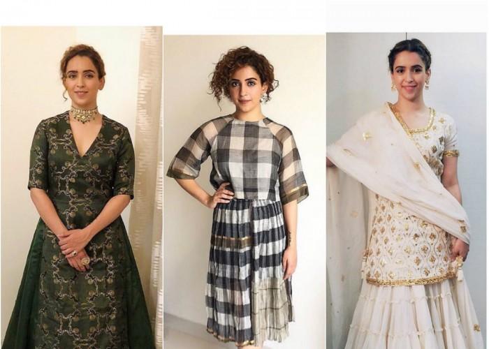 Dangal actress Sanya Malhotra's fashion is a perfect epitome of a thousand 'Pataakha'