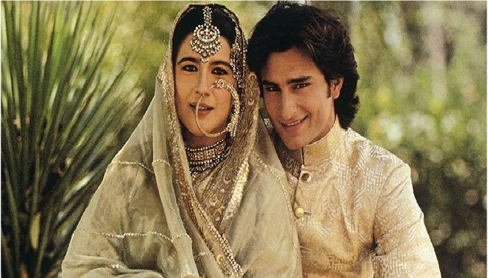 Saif Ali Khan and Amrita Singh old photo