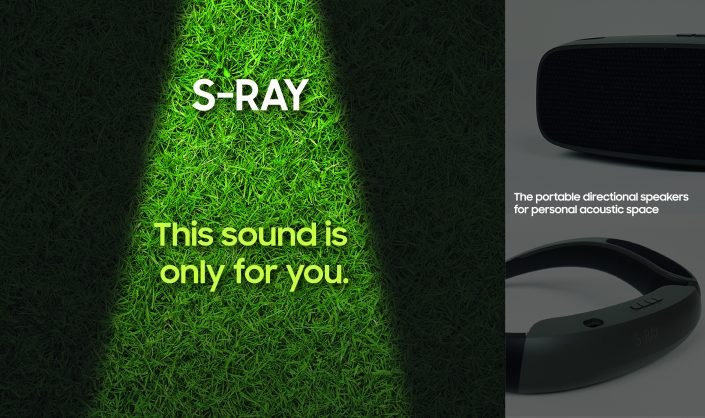 Samsung S-Ray portable directional speaker
