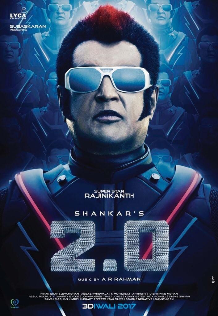 Rajinikanth,Akshay Kumar,2.0 first look poster,2.0 first look,2.0 poster,Enthiran 2,Endhiran 2,Endhiran 2 first look,Endhiran,Endhiran first look